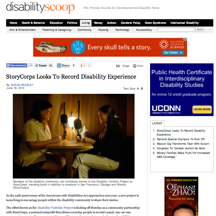 e76ee73c09 In the News – Disability Visibility Project
